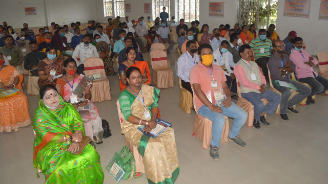 Delegates attend a Mandal Committee meeting of the BJP held in Agartala Sunday. Image: Indigenousherald